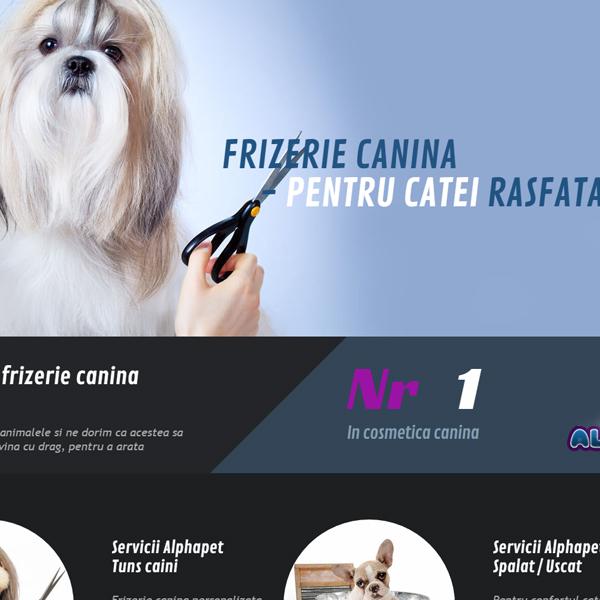 servicii web design frizerie canina
