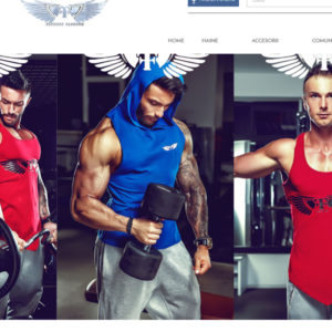 servicii web design magazin online fitness
