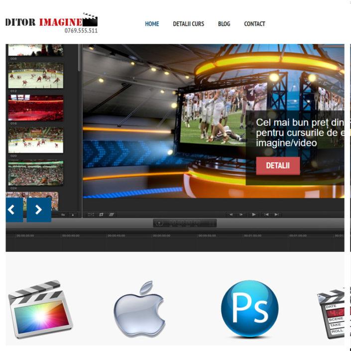 web design optimizat editorimagine