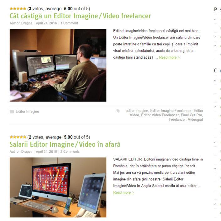 web design site prezentare editor imagine