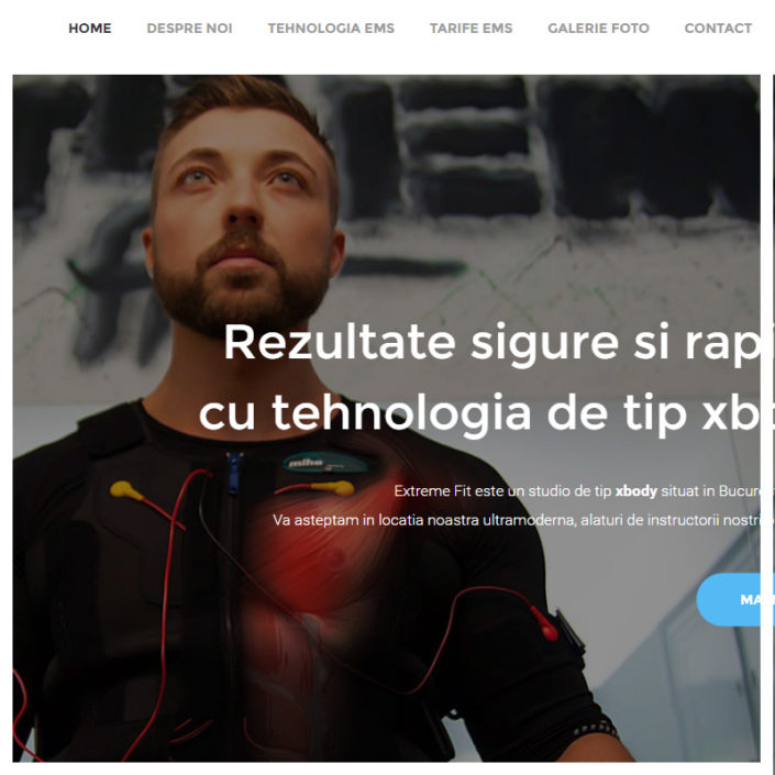web design extremefit xbody