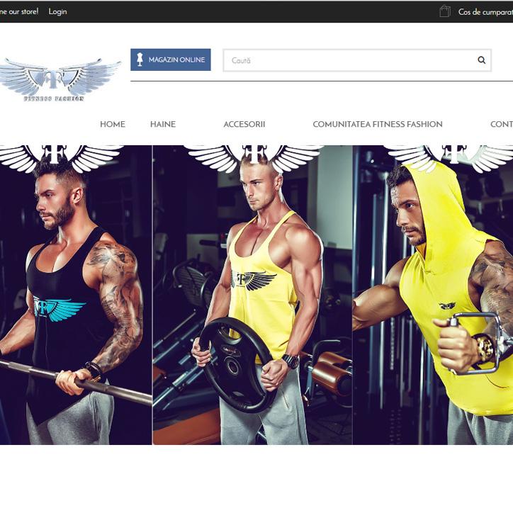 web design profesional fitness fashion
