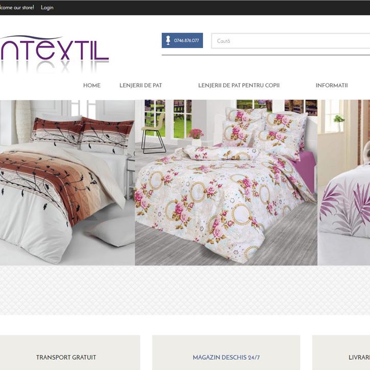 web design lenjerii de pat