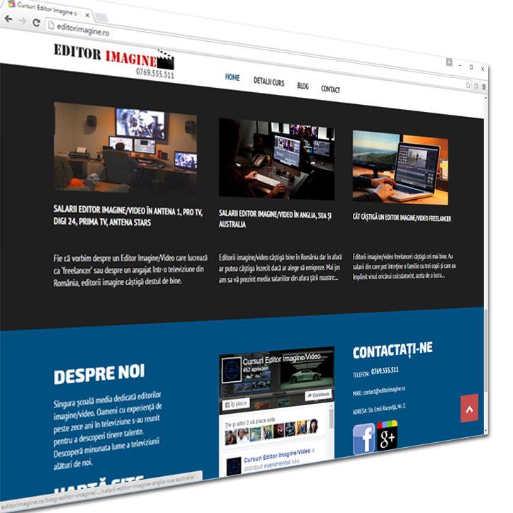 web design site prezentare editor